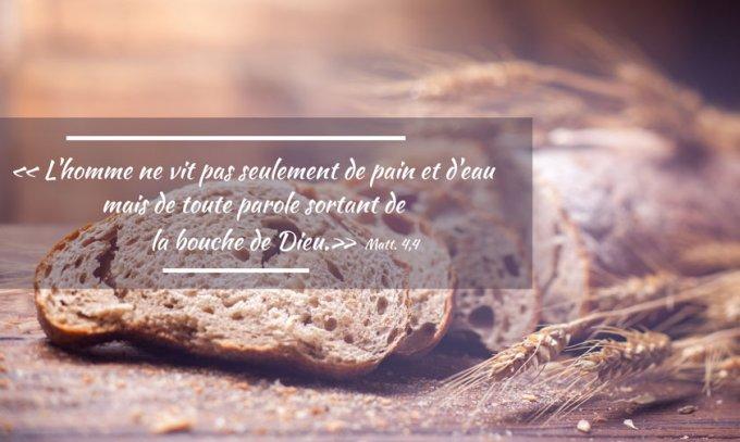 L'homme ne vit pas seulement de pain