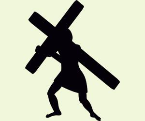 jesus porte sa croix