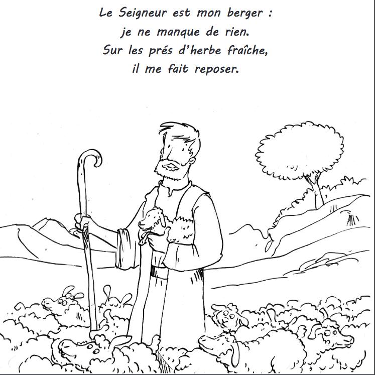 jésus entouré des moutons