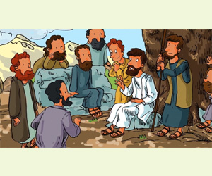 L'Ascension de Jésus : histoire et coloriage pour les enfants
